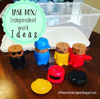 Task Boxes Ideas for Special Education