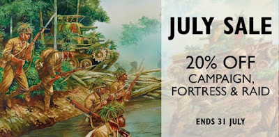 20% off Campaign, Fortress & Raid books, Jul 2018