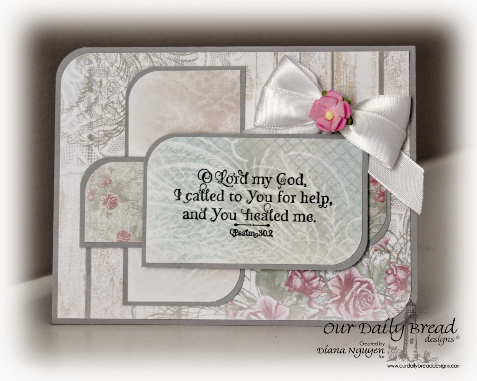 Our Daily Bread Designs, Shabby Rose Paper Collection, God Verses, Diana Nguyen