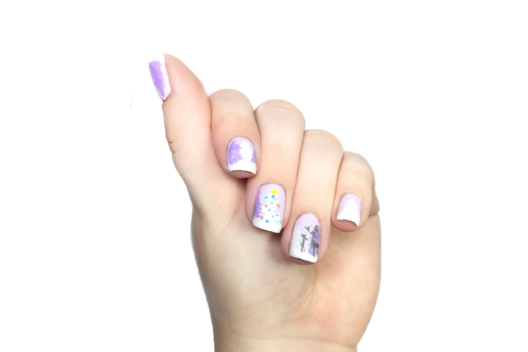 Winter Wonderland Nail Art