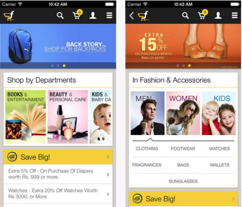 Flipkart Official Shopping App for Android and iPhone
