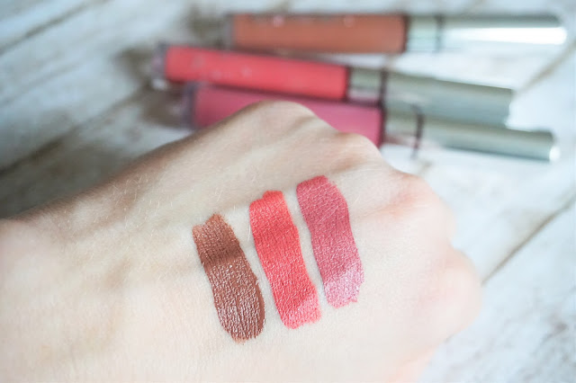 Colourpop - Ultra Satin Lip in November, Dopey, Mess Around Swatches