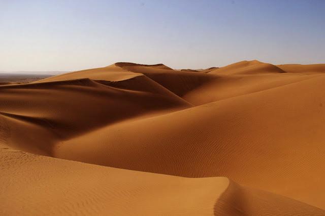 Maranjab Desert of Kashan, Iran.