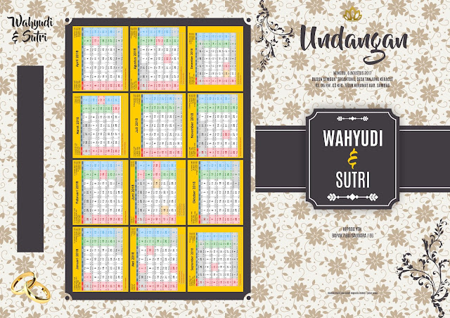 Template Undangan Vintage Soft Flower Corel Draw Depan