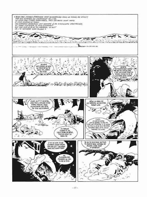 Page noir et blanc de Corto Maltese T13 Sous le soleil de Minuit de Canales Diaz et Pellejero chez Casterman