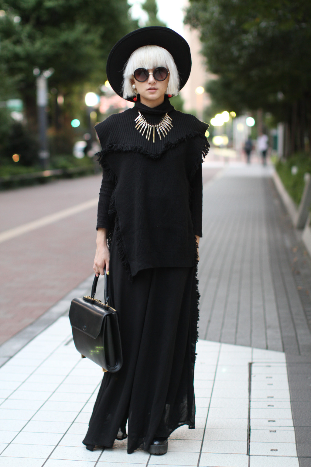 tokyo fashion week, spring 2016, ootd, outfit, blogger, all black