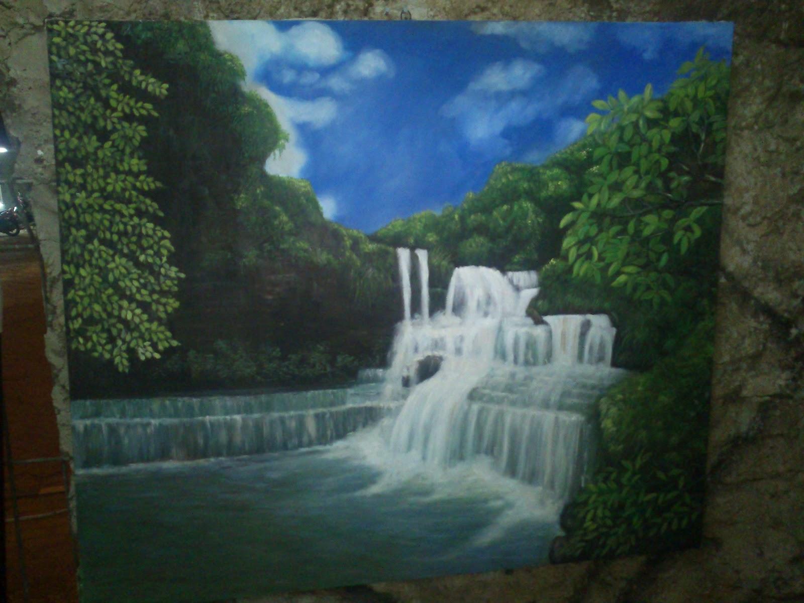 Nita Frame Lukisan Pemandangan Air Terjun