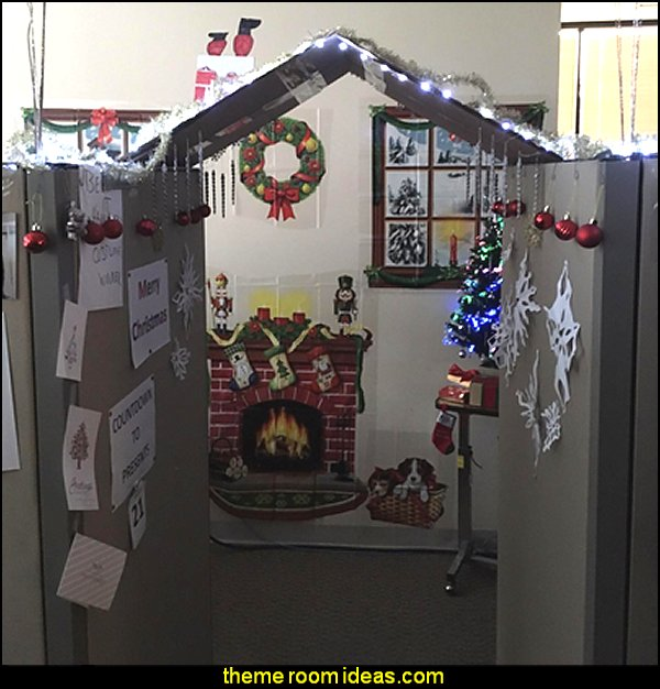 Indoor Christmas Décor Props office cubicle  office cubicle decorating ideas - cubicle decorating - work desk decorations - cubicle decoration themes - cubicle decor - office birthday party cubicle decorations - office birthday decorating kit - glitter office supplies - desktop organizers