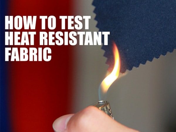 Fire retardant fabric test