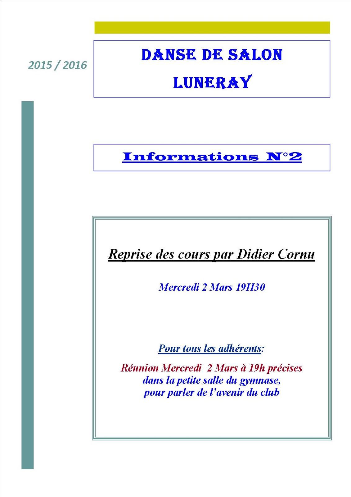Club de danse de salon luneray 2015 2016 informations n for Blog danse de salon