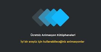 Ücretsiz CSS Animasyon Kütüphaneleri