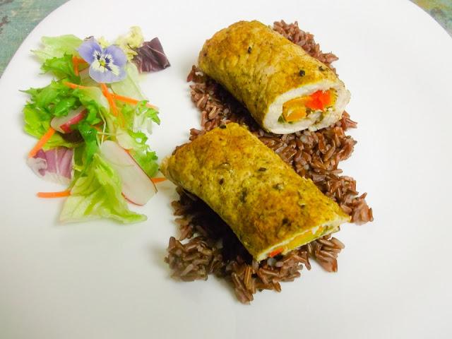 przepis na zdrowy, kolorowy obiad