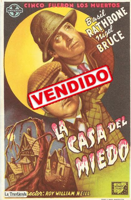 La Casa del Miedo - Programa de Cine - Basil Rathbone - Nigel Bruce