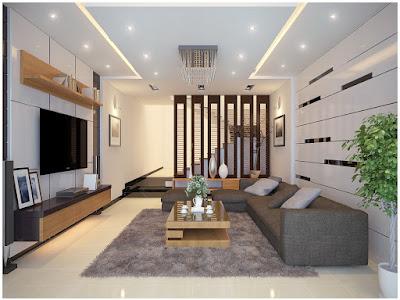 Nội thất phòng khách sang trọng và hiện đại nhờ những bộ sofa đơn giản và tinh tế