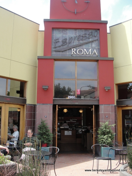 exterior of Espresso Roma in Berkeley, California