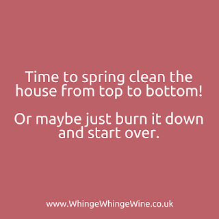 Time to spring clean the house from top to bottom! Or maybe just burn it and start over