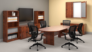 Dark Cherry Conference Room Furniture
