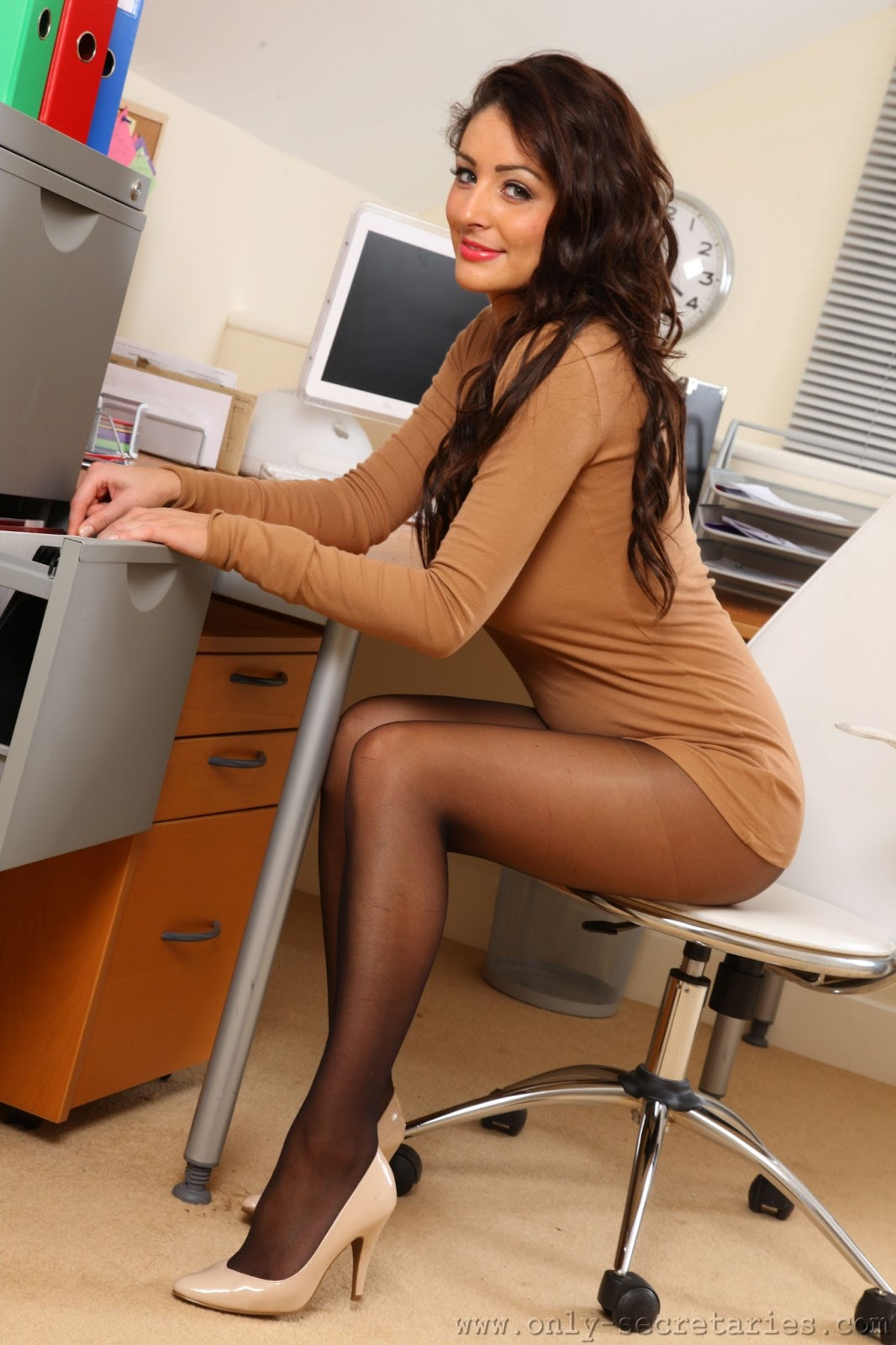 Nude In Office