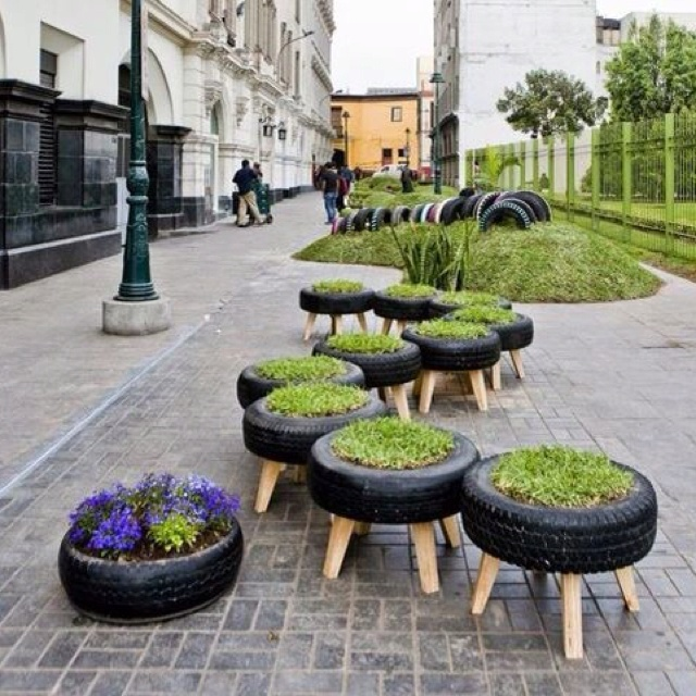 Artistic Garden Tyres Art Project Ideas And Craft