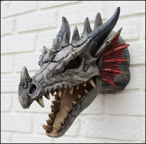 Dragon Head wall decor  Medieval Knights & Dragons decorating ideas - knights castle decor - knights and dragons theme rooms - dragon theme decor - prince decor - medieval castle wall murals - knights and dragons baby bedding - Knights Medieval bedding - dragon bedding - dragon murals - dragon themed bedroom ideas - medieval castle furniture - Prince Crown Royal Theme Princess decor