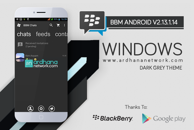 BBM Windows Phone Dark grey - BBM MOD Android V2.13.1.14