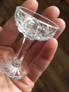one of the Waterford Crystal glass  made to scale of the Corina Duyn's dolls.