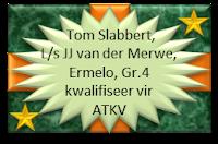 Tom Slabbert, Laerskool JJ van der Merwe, Ermelo, Gr.4 kwalifiseer vir ATKV met die aanbieding van sy redenaarstoespraak onder die 2013 tema PRAAT