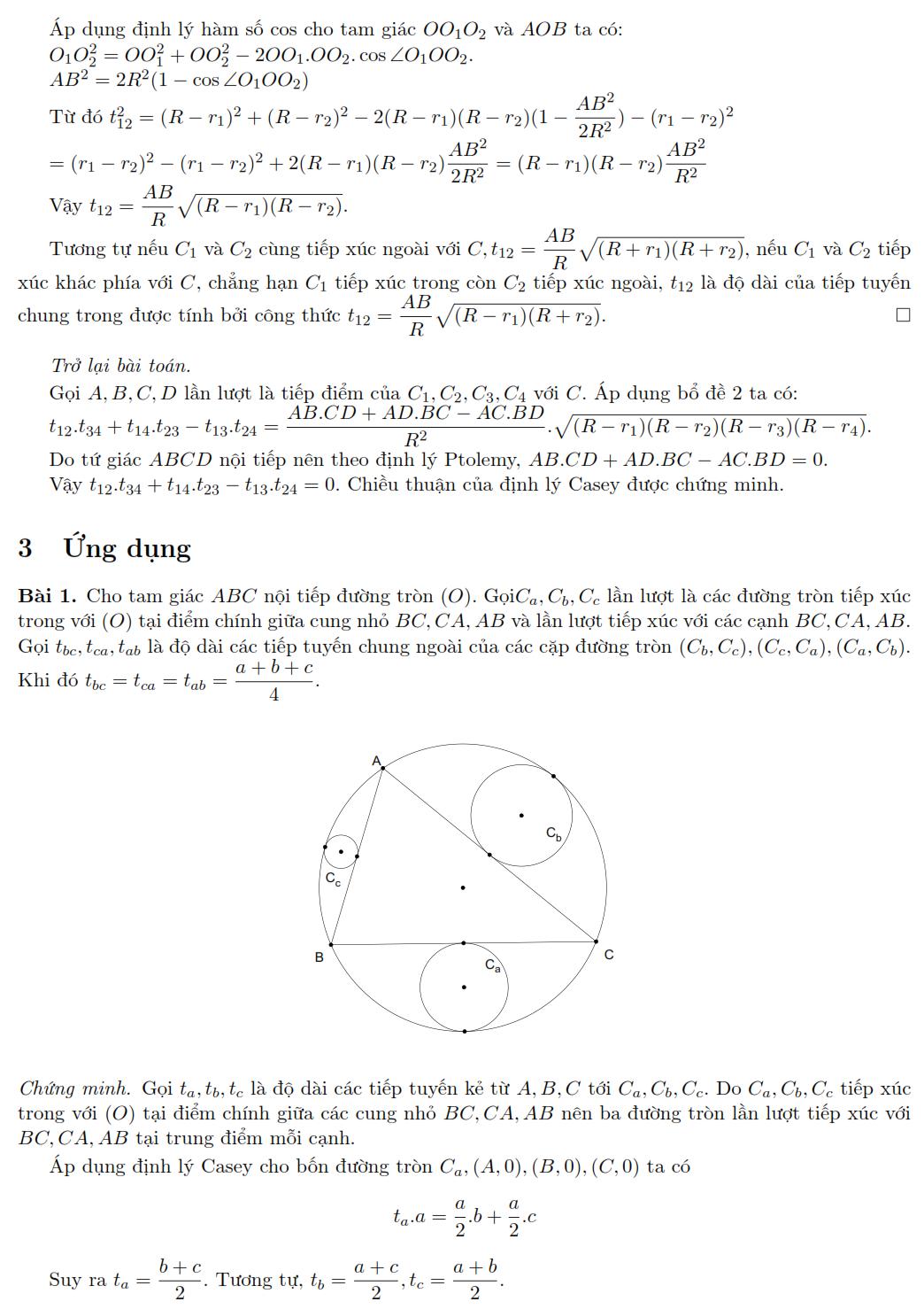 Định lý Casey và ứng dụng Nguyễn Văn Linh phần 3