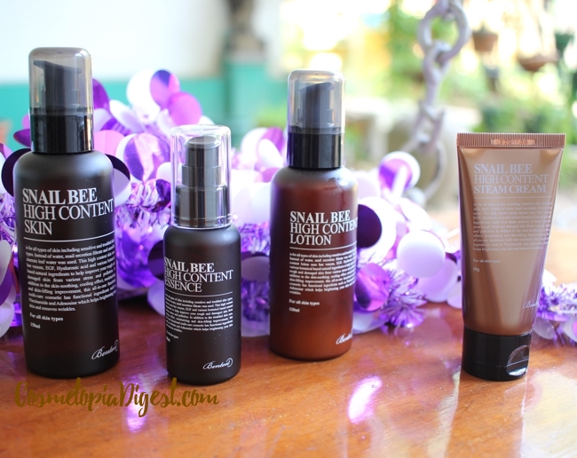 Benton Snail Bee High Content Skin, Essence, Lotion and Steam Cream review, comparison with Mizon and CosRx