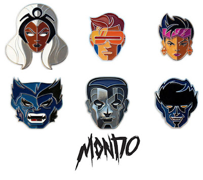 San Diego Comic-Con 2016 Exclusive X-Men Marvel Portrait Enamel Pins by Tom Whalen & Mondo - Cyclops, Storm, Colossus, Beast, Nightcrawler and Jubilee