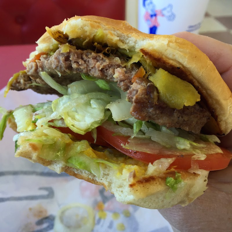 Green chile burger at Blake's Lotaburger