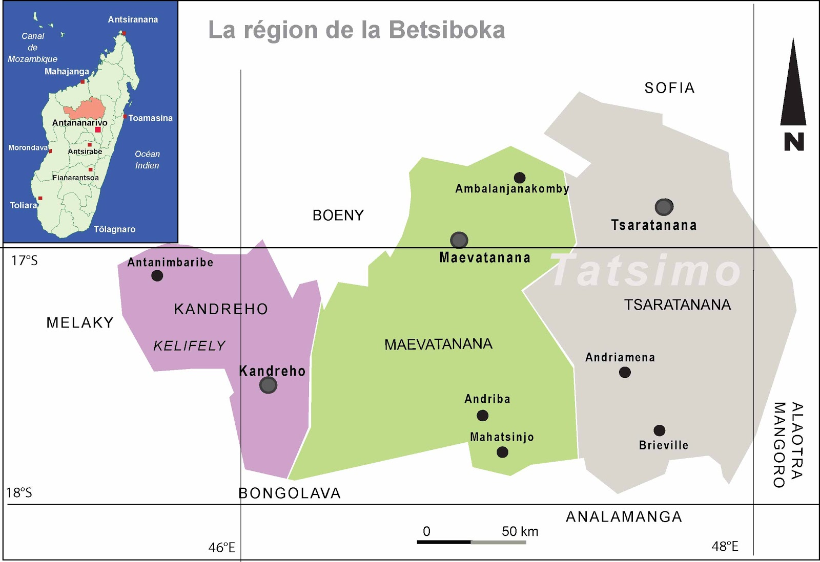 Tatsimo Carte Administrative La Region De La Betsiboka
