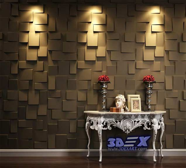 Modern 3d decorative wall panels and covering texture