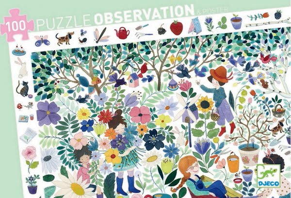 Djeco Observation Puzzle 1000 Flowers