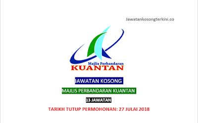 Jawatan Kosong Majlis Perbandaran Kuantan 2018