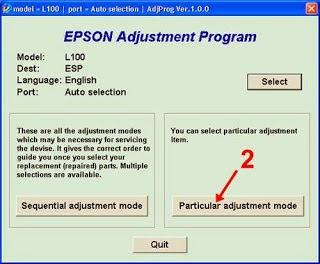 Model L100   Port = Auto Selection   AdjegProg Ver 1.0.0