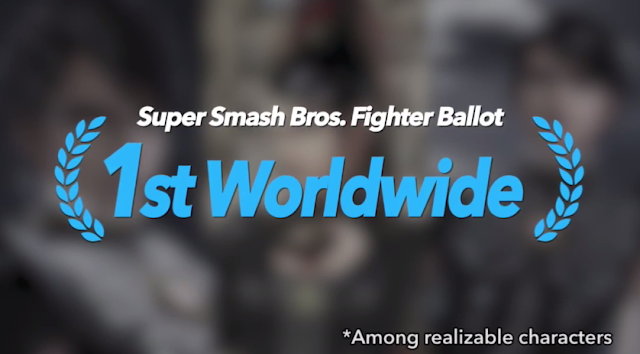 Super Smash Bros. Fighter Ballot first place character