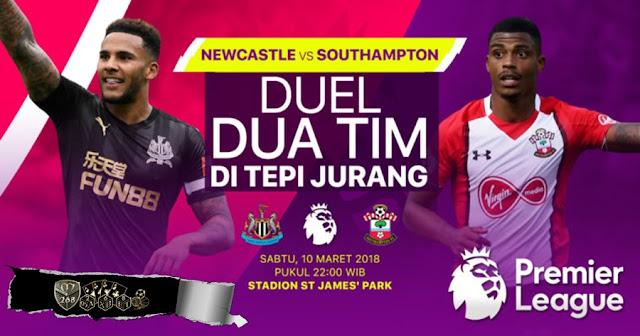 Prediksi Newcastle United Vs Southampton, Sabtu 10 Maret 2018 Pukul 22.00 WIB