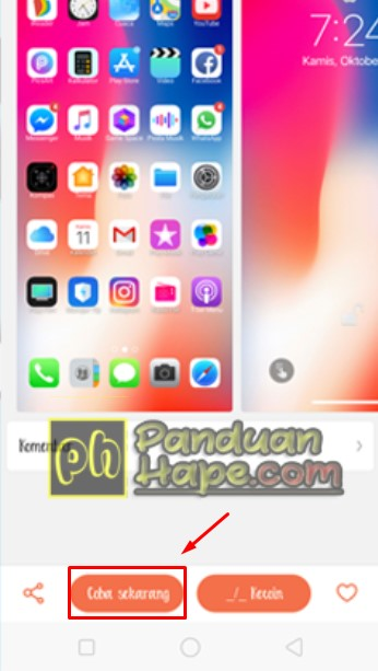 Download Tema ala iPhone XMax dan iOs 12 Untuk Realme / Oppo