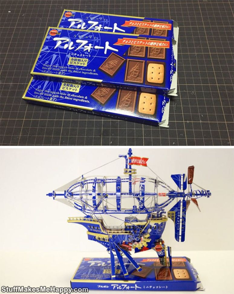 The Artist from Japan Gives a Second Life to the Packaging of Products, Turning It into Works of Art