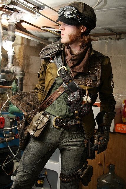 devilinspired steampunk dresses men's steampunk costumes
