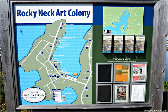 Mapa de la Rocky Neck Art Colony en Gloucester, Massachusetts
