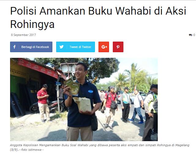 Polisi Amankan Satu Kardus Buku Wahabi di Aksi Simpati Rohingya Kemarin