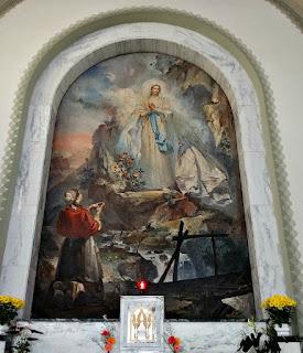 """""""A Aparição da Virgem"""" - Aldo Locatelli (1960), Igreja de Nossa Senhora de Lourdes, Porto Alegre"""