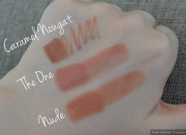mua makeup academy caramel nougat lip liner swatch