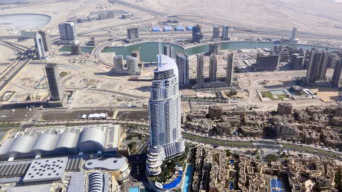 Wallpaper: Dubai. Skyscrapers. Hotel. Burj Khalifa view