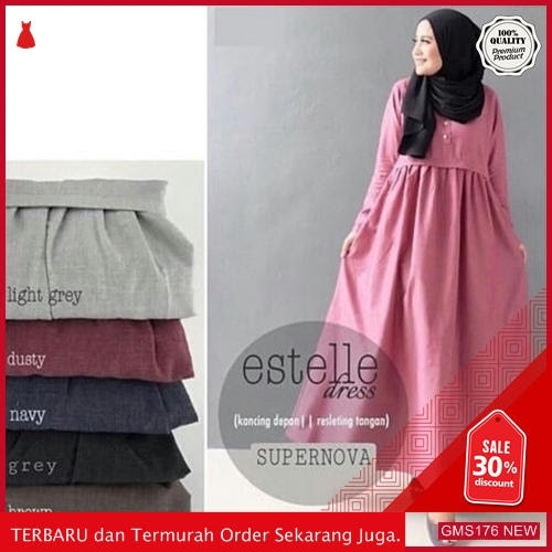 GMS176 KRSRS176G66 Gamis Estele Estelle Dress Dropship SK2037206175