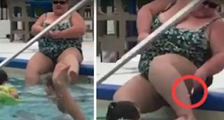 Viral το βίντεο με την τουρίστρια που ξυρίζει τα πόδια της στην πισίνα!