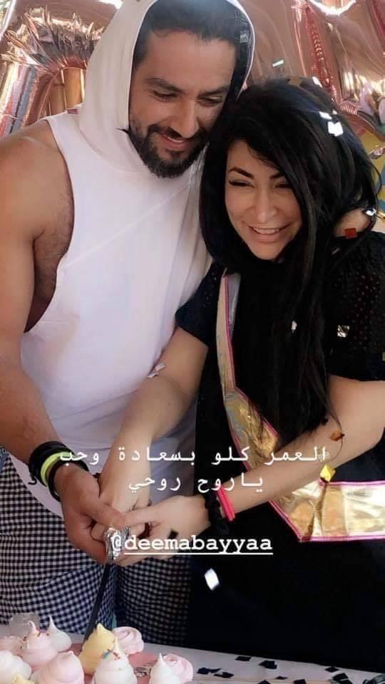 احتفال النجمة مها المصري بعيد ميلاد ابنتها ديمة بياعة ال 40❤️🌹