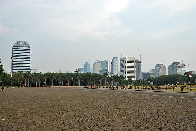 Panorámica de la plaza Merdeka
